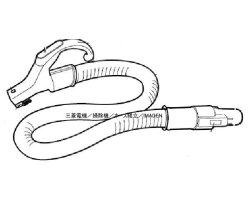 画像2: TC-GXG10P-W,TC-GXG8P-P,TC-GXH10P-W,TC-GXH8P-V,TC-KSG9P-A,用|ホース組立(新品)|掃除機|三菱電機
